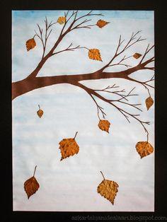 Kuvis/käsityö syksy Nail Art a nail art design Autumn Crafts, Autumn Art, Kindergarden Art, 8th Grade Art, Fall Art Projects, Dora, Leaf Art, Art Lesson Plans, Art Activities