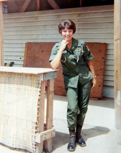 """This is Dolores """"Dee"""" Padgett as she looked in the 1960s as Lt. Dolores Wohnus serving with the Army Nurse Corps in Vietnam."""