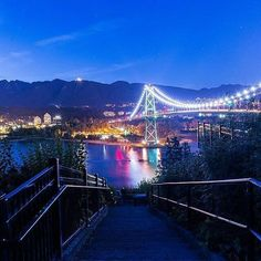 Lions Gate Bridge.. view from Stanley Park in Vancouver, BC