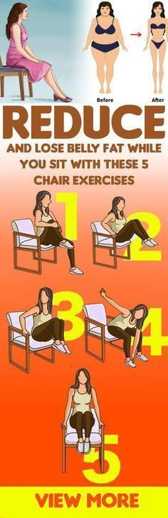 Reduce And Lose Belly Fat While You Sit With These 5 Chair Exercises #BellyFatTraining