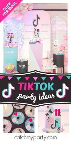 Tiktok Party Birthday Tik Tok Lissah Catch My Party In 2021 Girls Birthday Party Themes Birthday Party Activities Party Locations