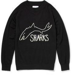 grailshit:  SIBLINGTHE SHARKS INTARSIA WOOL SWEATER