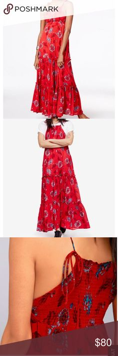 """NWT FREE PEOPLE FARDEN PARTY MAXI DRESS SMALL Brand new with tags Free People """"Garden party"""" maxi dress. Bought from lulus. Never worn. Size small. Open to REASONABLE offers. $128.00 originally. Free People Dresses Maxi"""