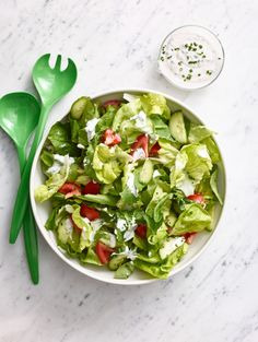 salad with creamy ranch dressing salad with creamy ranch dressing ...