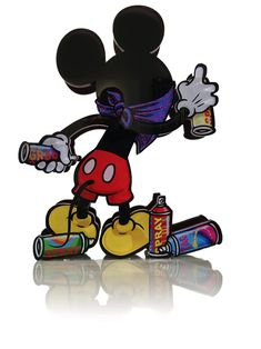 Mickey Mouse – Colors Spray by F Pop Art Wallpaper, Graffiti Wallpaper, Cartoon Wallpaper, Disney Wallpaper, Graffiti Cartoons, Dope Cartoons, Graffiti Characters, Mickey Mouse Coloring Pages, Mickey Mouse Art