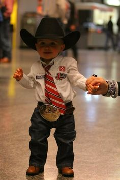 Lil' rodeo star @Dusti Hussey  can't wait for this to be my sweet Rody!!