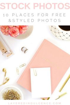 If you're looking for great graphics for your blog, look no further! I've rounded up the best free and styled stock photos for bloggers from around the web! Take your blogging up a notch and add in these gorgeous photos to your posts. They're perfect for lifestyle blogs with a feminine touch! Click through to get access to the styled stock photos or save this post for later!