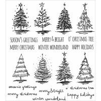 """Timbri Scribbly Christmas Tim Holtz Cling Rubber Stamp Set 7""""x8,5"""""""