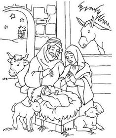 Trendy Children Drawing School Coloring Pages Ideas Nativity Coloring Pages, Jesus Coloring Pages, School Coloring Pages, Coloring Pages For Kids, Coloring Books, Christmas Scene Drawing, Christmas Nativity Scene, Christmas Manger, Nativity Scenes