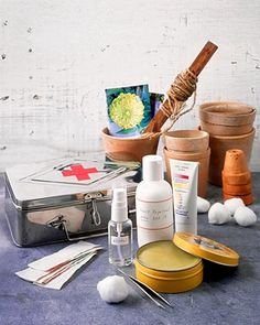 First-Aid Kit - When you need first-aid supplies most, you're usually not in the best frame of mind to search for them. A well-stocked first-aid kit keeps the items you need easy to find.