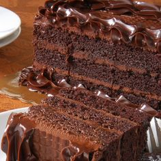This gourmet chocolate cake recipe makes a moist, delicious 3 layer cake, that is filled and frosted with a super creamy chocolate frosting.. Gourmet Chocolate Cake Recipe from Grandmothers Kitchen.
