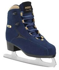 Roces Women's Caje Ice Skate Superior Italian Style & Comfort 11 Blue Suede for sale online Skater Girl Style, Skater Girl Outfits, Skater Girls, Figure Ice Skates, Figure Skating, Italian Shoes, Italian Style, Roller Derby, Roller Skating