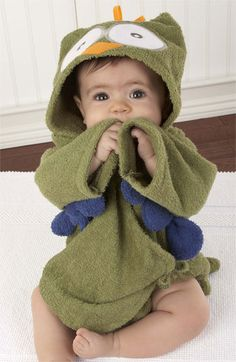 Baby Aspen 'My Little Night Owl' Terry Cloth Robe (Infant) | Nordstrom