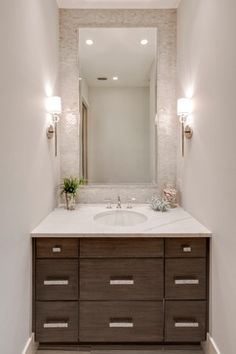 Baths   Transitional   Powder Room   Other Metro   41 West Love The Large  Mirror · Amazing BathroomsSmall BathroomsColors ...
