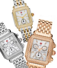 Michele Watches....love changing the bands...my husband gets confused regarding exactly how many watches I have!