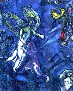 Chagall : la lutte de Jacob et de l'Ange