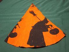 Vintage Halloween 1920's / 30's Crepe Paper Hat Dennison Nice Condition