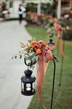 great aisle look for a fall wedding