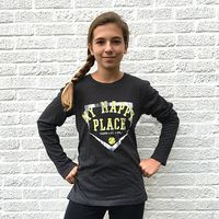 My Happy Place Softball t shirt Girls Softball, Softball Clothes, Softball Gifts, Softball Stuff, Muscle T Shirts, Sport Girl, My Happy Place, Long Sleeve Tops, T Shirts For Women