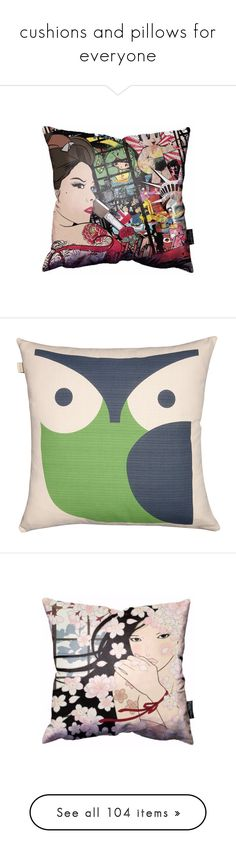 """cushions and pillows for everyone"" by rebekahp1994 ❤ liked on Polyvore featuring home, home decor, throw pillows, pillows, multi, orla kiely, owl throw pillows, colored throw pillows, owl home accessories and owl home decor"