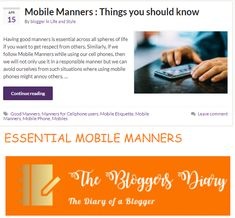 Mobile Manners that you need to practice