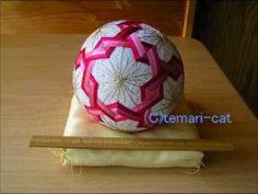 """Temari Lecture 28. How to make a Temari """"Nejiri-Plum."""