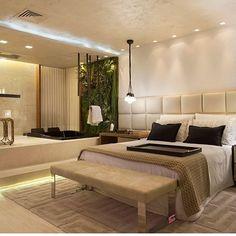 Quarto integrado com banheiro!!! O desnível foi essencial para ficar Ainda mais incrível !!! @leiladioniziosarqinteriores #architecture #arquitetura #archilovers #architecturelovers #arch #design #designdeinteriores #interiores #interiordecor #interiordesign #home #homedecor #homedecoration #homedesign #homeinterior #decor #decorhome #decoracao #decoration #lovedecor #lovedecoration #lovedecor #instadesign #instaarchi #instaarchitecture #instadecorhome #inspiration #inspiração #refe...