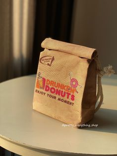 Drunkin Donut - Recycled Polyester - Quirky Design Order Business Cards, Little Bag, Donuts, Recycling, Take That, Paper, Cute, Bags, Etsy