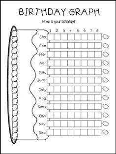 Birthday bar graph - graphing practice at beginning of year! Preschool Math, Math Classroom, Kindergarten Math, Teaching Math, Math Teacher, Preschool Birthday, Preschool Supplies, Math 2, Birthday Graph