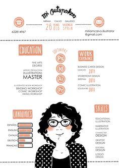 Illustrator curriculum vitae Infography about me Infografía Illustration