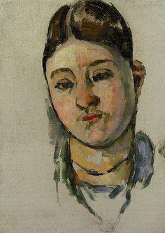 Paul Cézanne (French, 1839-1906), Portrait of Mme Cézanne, 1883, oil on canvas.
