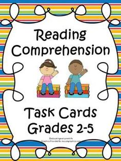 Reading Comprehension Task Cards For Elementary Students