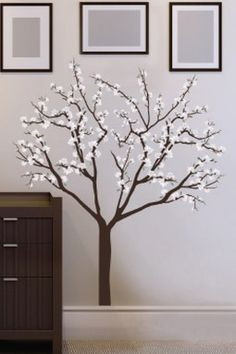 Magnolia Blossoms Removable Wall Decal Set