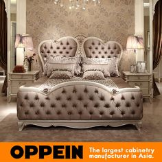 Cheap bed carpet, Buy Quality bed directly from China bed in a bag full Suppliers: This is a LuxuryEuropean style king bed with fabrice upholstered and tufted headboard. The beautiful shape perfec