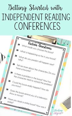 Hold independent reading conferences as part of Reading Workshop to learn more about what your students are reading. // Blog by Teaching to Inspire