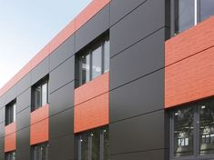 Aluminium Composite panels are very important part of internal and external cladding, ACP sheet specifications are such that it can be used over machine coverings, false ceiling, and partitions. The sheets are very cost-effective and easy to install Building Front, Building Exterior, Building Facade, Building Design, Factory Architecture, Facade Architecture, Facade Design, Exterior Design, Aluminium Cladding