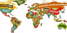 Cool one of a kind MAP !! This Funny World Map Shows What Every Country Leads The World In