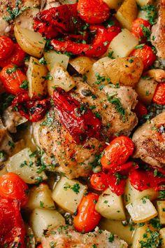 Baked Mediterranean Chicken Thighs recipe
