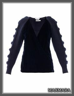 ◆MaxMara(マックスマーラ)◆ Baruffa sweater 高級で上質なカシミヤ素材、これからのシーズンのマストアイテム、暖かなウール素材を使用した 袖には大人の雰囲気のケーブル編みでアクセントをつけた素敵なニットセーターです☆
