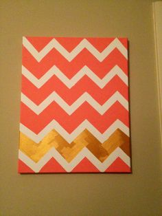 I'm getting obsessive when it comes to chevron things. I would probably do it in turquoise and grey to match my decor though.