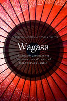 Klassisch japanischer Sonnenschirm Wagasa direkt hier im Shop kaufen! Eignet sich auch perfekt als Dekoelement in Ihrem eigenen Japan-Zuhause. Japan Design, Geisha, Patterns, Movie Posters, Japanese Products, Classic, Ad Home, Japanese Design, Block Prints