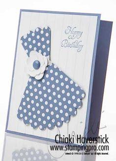 Elementary Elegance Stamp Set (SAB); Wisteria Wonder inks and cardstock;  Sweet Shop DSP; Scallop Circle Bigz Die;  Stripes TIEF; Floral Fusion Sizzlet;  In-Color Brad.