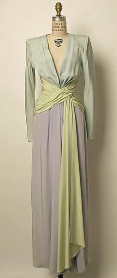 Dress, Evening - Yves St. Laurent c, 1955
