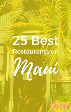If you& looking for the best restaurants on Maui, you& find 25 of them right here. Maui Honeymoon, Hawaii Vacation, Vacation Spots, Vacation Packages, Honeymoon Destinations, Kauai, Maui Hawaii, Hawaii Life, Hawaii In July