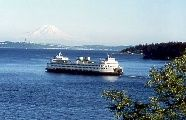Bainbridge Island Ferry with service to Seattle. City living.