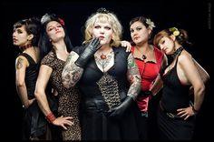 Eva Von Slut, singer in the all-girl psychobilly band Thee Merry Widows