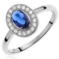 PR7143ZSS Strieborný prsteň so zirkónmi Strieborný prsteň s modrým zirkónom #supersperky #krasnesperky