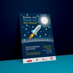 3 — 2 — 1 — Poster für die Landesmusikschule Wels. Corporate Design, Poster, Advertising Agency, Wels, Brand Design, Billboard, Branding Design