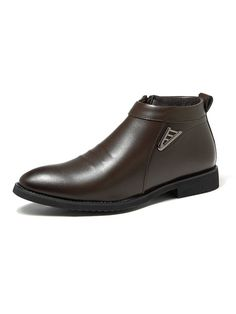 Men's Side Zipper Pointed Toe Warm Plush Lining Casusl Ankle Boots is fashionable, come to NewChic to buy mens boots online. Mens Boots Fashion, Fashion Men, Blazer Outfits Men, Mens Boots Online, Tuxedos, Wedding Men, Types Of Shoes, Casual Wear, Chelsea Boots