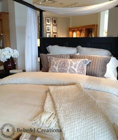 Pottery Barn Stylist Tips & Tricks: How to make your bed look fluffy like a display bed